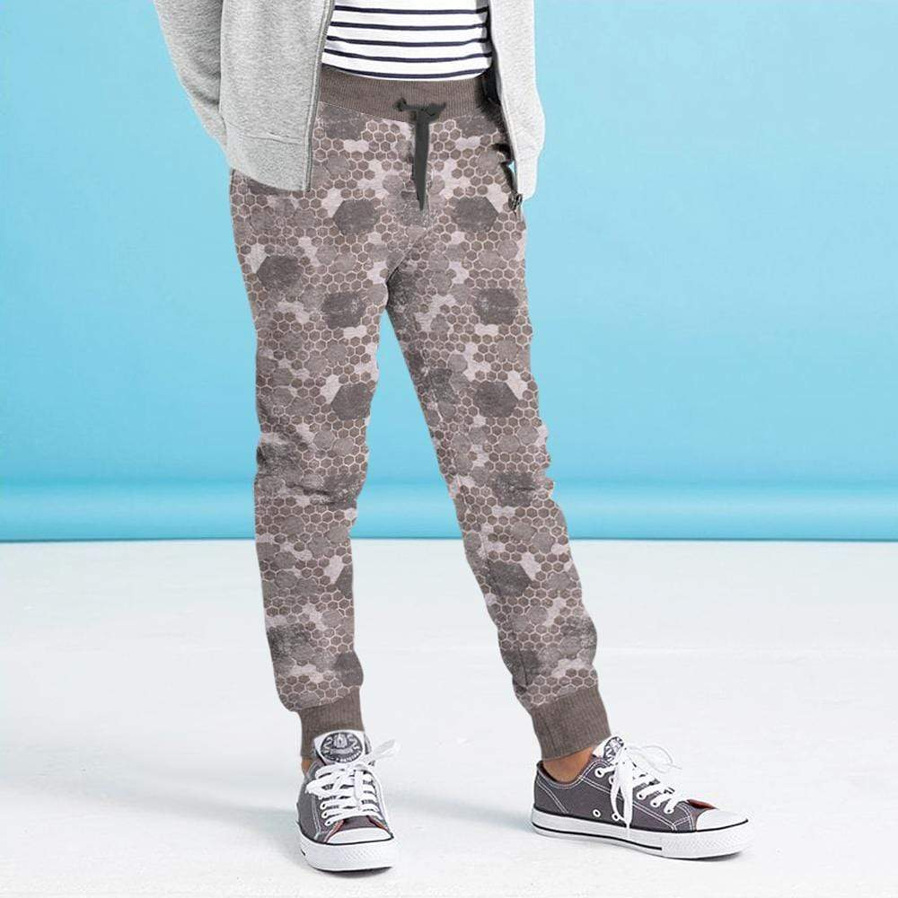 Crossconnections.com.pk Kid's Jogger Grey / 2-3 Years Boy's STONE HARBOR Lotis Grey ALLOVER PRINTED JOGGER