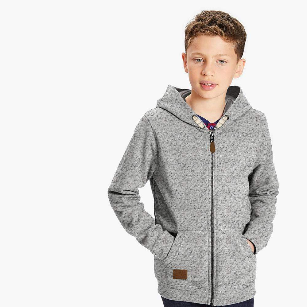 Henry James Boy's Zipper Hoodie Ash / 18-24 Months Boy's Henry James WINTOC PULLOVER ZIPPER HOODIE