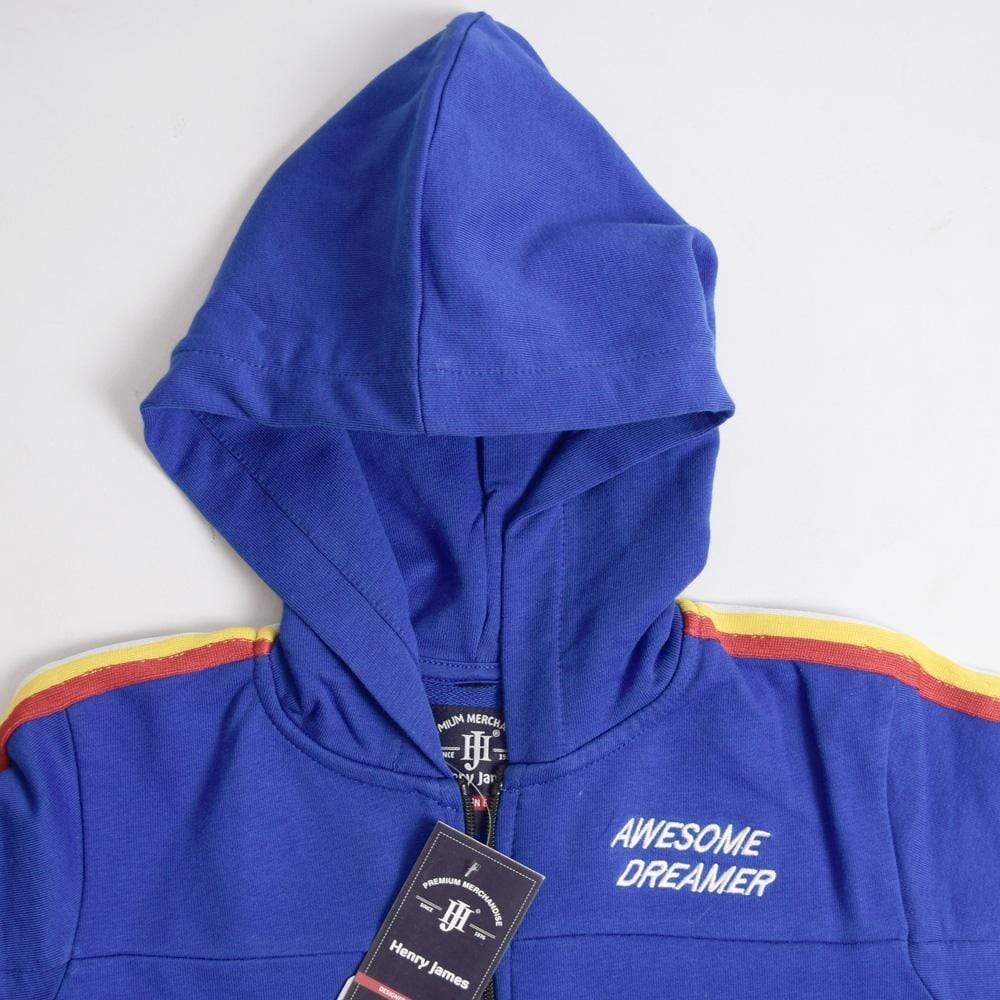 Henry James Boy's Zipper Hoodie Royal Blue / 11-12 Years Boy's Henry James Awesome Dreamer Zipper HOODIE