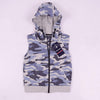 Henry James Boy's Zipper Hoodie Light Blue / 5-6 Years Boy's Henry James Camouflage Sleeveless ZIPPER HOODIE