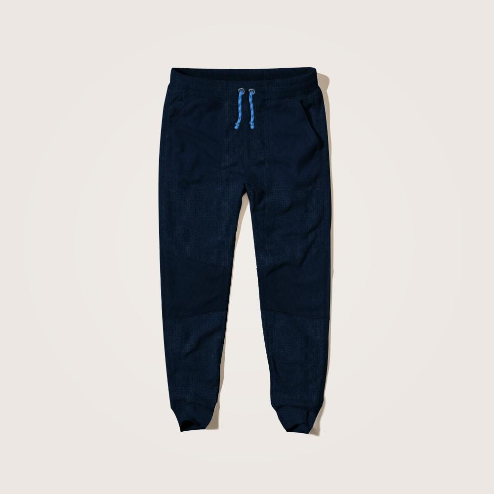 Henry James Kid's Jogger Ezra Quilted Paneled  Close bottom Jogging Pants