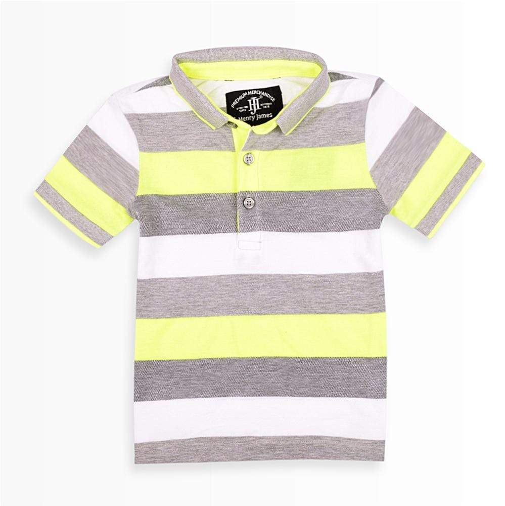 Henry James Kid's Polo Shirt 12-18 Months Henry James Kid`s Glaze Short Sleeve Polo Shirt
