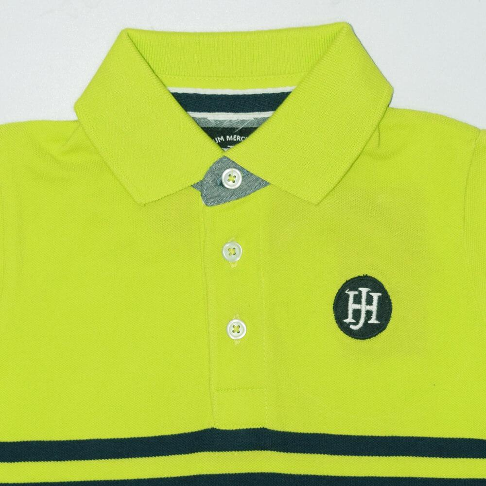 Henry James Kid's Polo Shirt Fluorescent Green / 4-5 Years Boy's Henry James Fluorescent Short Sleeve Polo Shirt