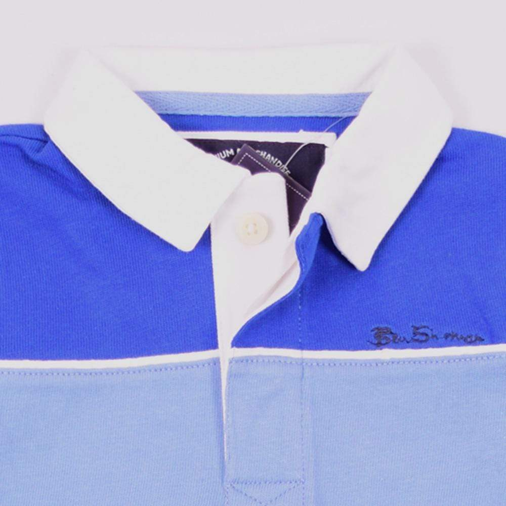Henry James Kid's Polo Shirt Royal Blue / 7-8 Years Boy's Henry James Logs Long Sleeve Polo Shirt