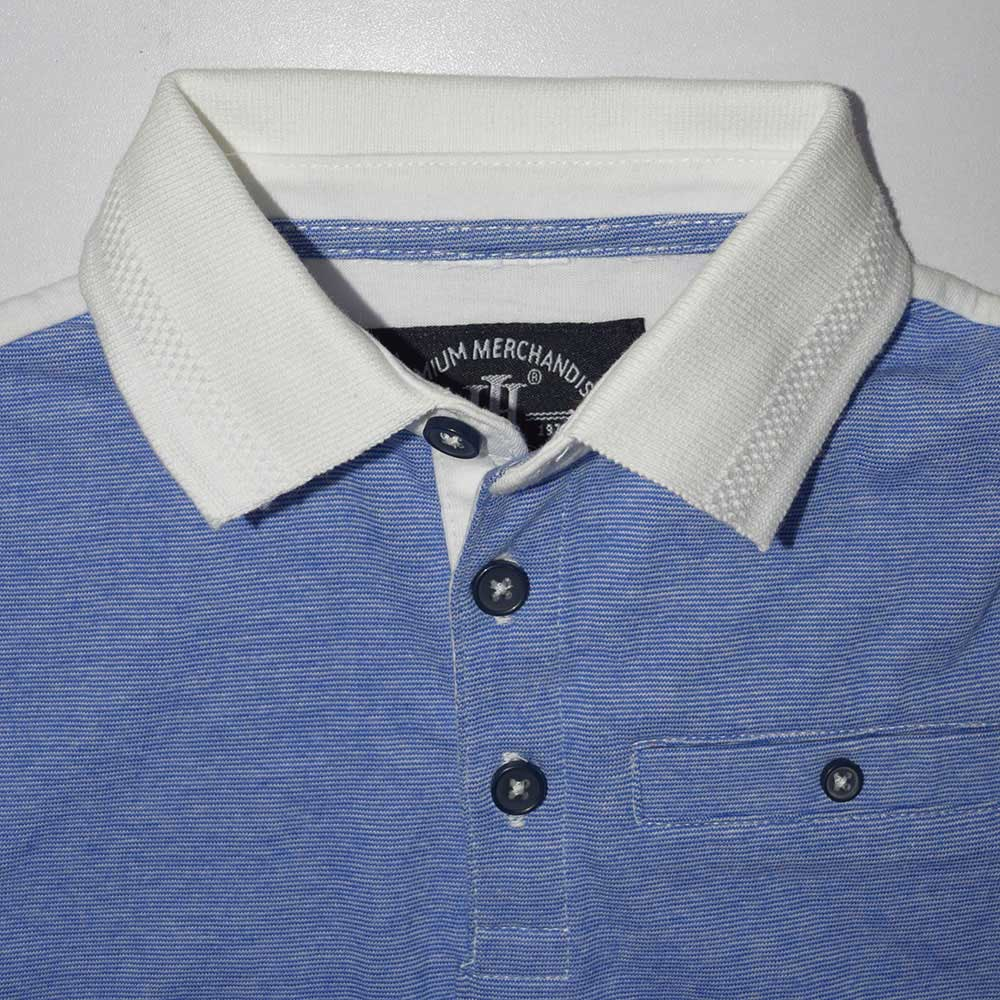 Henry James Kid's Polo Shirt Blue / 2-3 Years Boy's Henry James SKY LINER Short Sleeve Polo Shirt