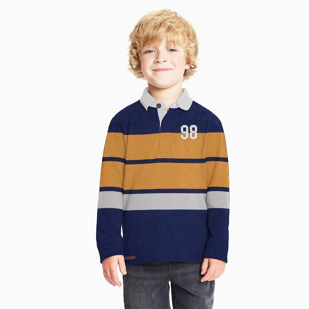 Henry James Kid's Polo Shirt Navy / 3-4 Years Boy's Henry James Nevada Long Sleeve Polo Shirt