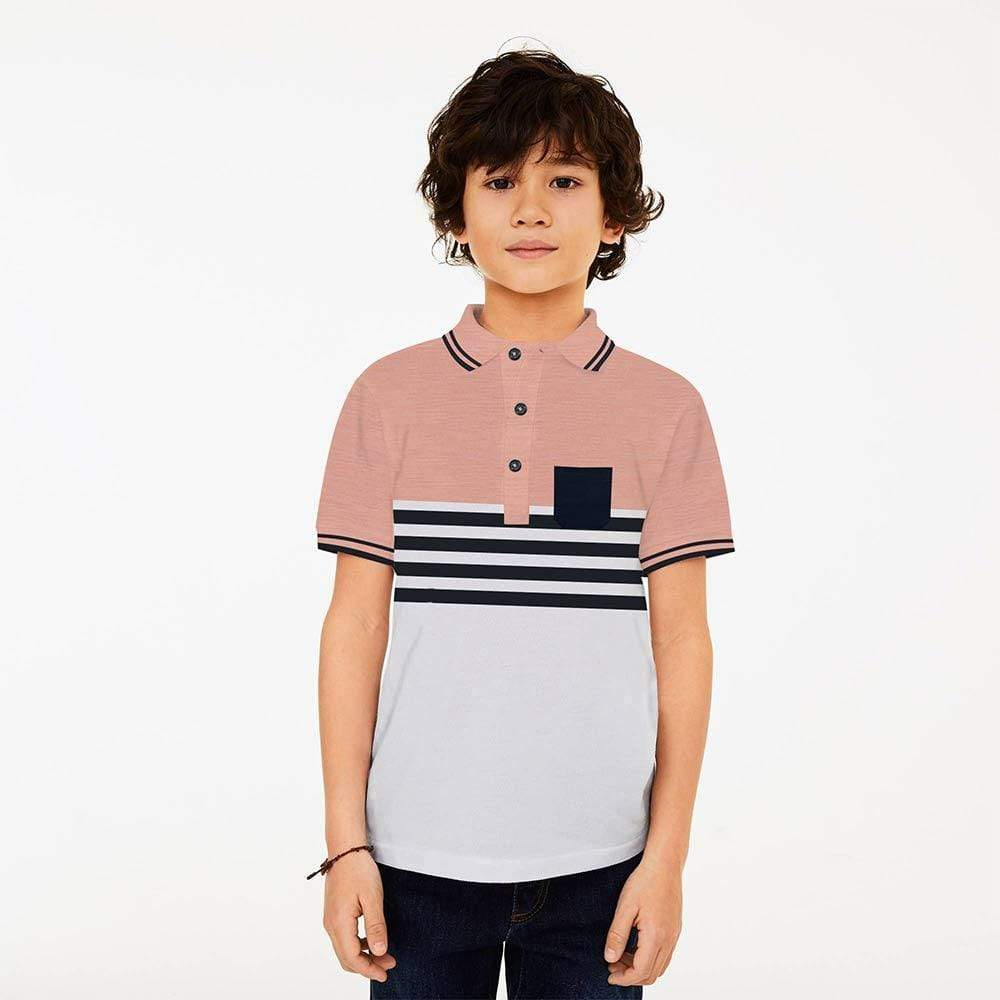 Henry James Kid's Polo Shirt Pink/White / 1.5-2 Years Boy's Henry James FELCO Short Sleeve Polo Shirt