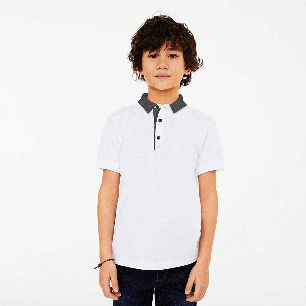 Henry James Kid's Polo Shirt White / 5-6 Years Boy's Henry James PLITE Short Sleeve Polo Shirt