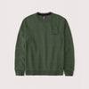 Henry James Kid's Sweatshirt Army Green / 9-10 Years Boy's Stone Harbor Greeno Crew Neck Sweatshirt