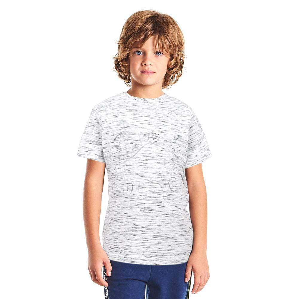 Henry James Kid's T-Shirt Ash / 12-18 Months Henry James Embossed Dino Short Sleeve Tee Shirt
