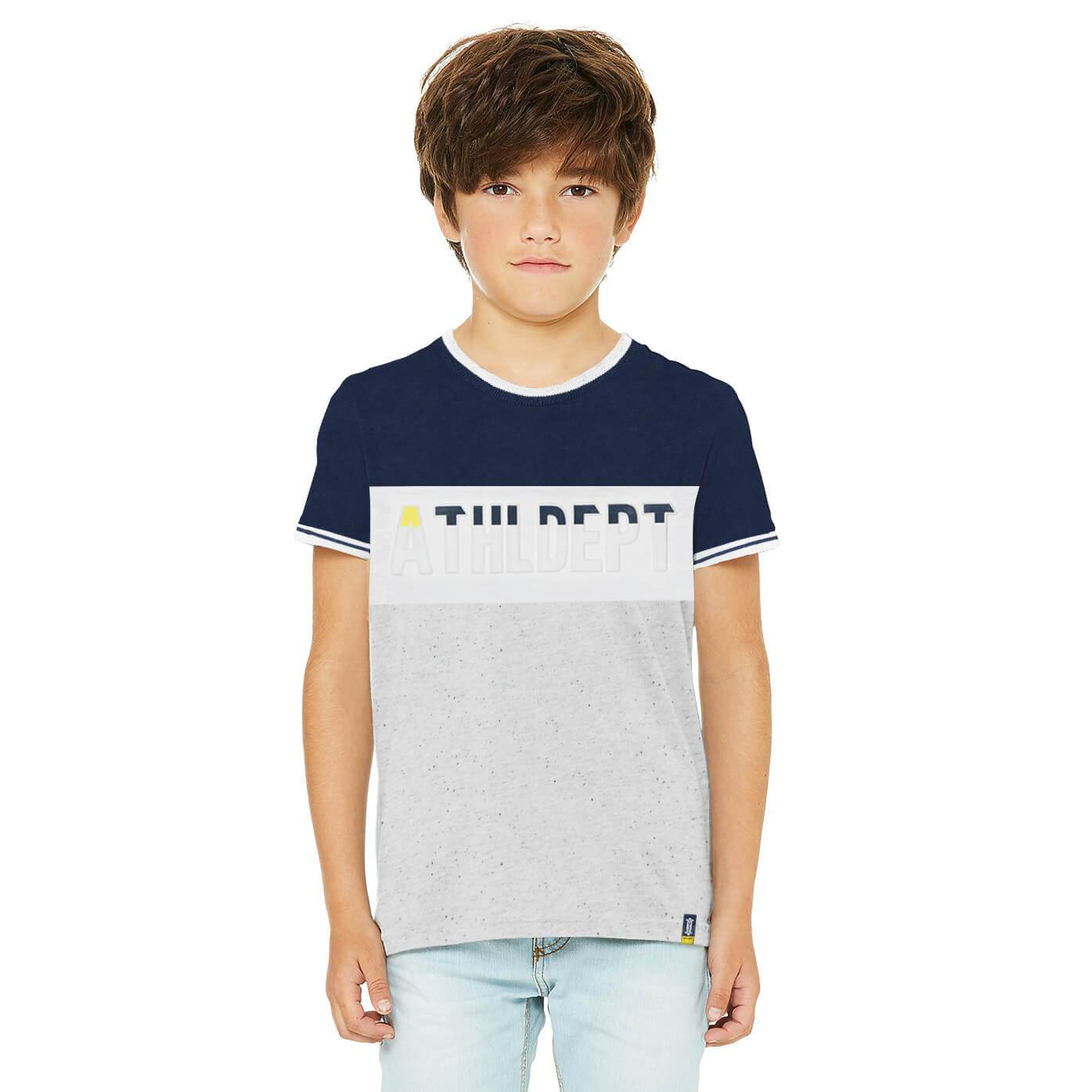 Henry James Kid's T-Shirt Grey / 11-12 Years Boy's Henry James ATHLDEPT Short Sleeve Tee Shirt
