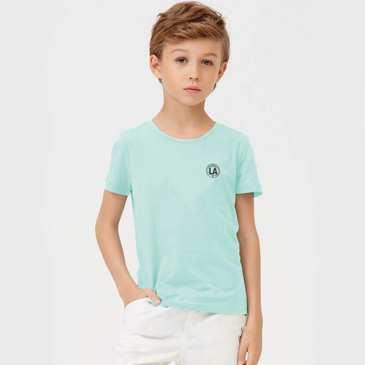 Henry James Kid's T-Shirt Mint / 5-6 Years Boy's Henry James LA Crew Neck Tee Shirt