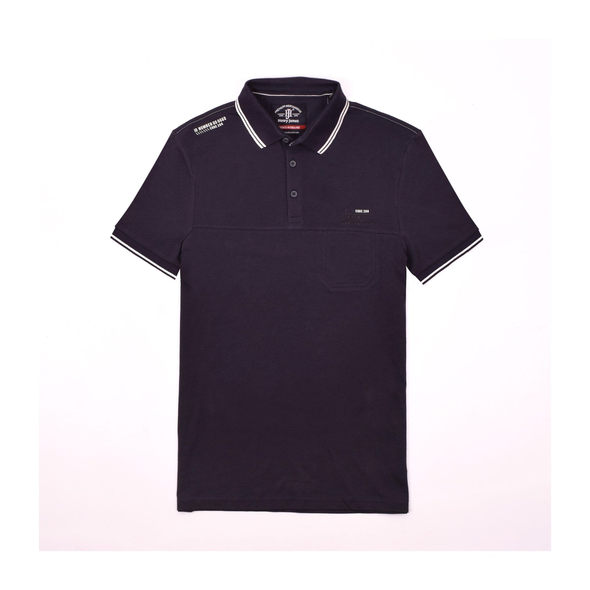 Henry James Men's Polo Shirt Dark Navy / S Henry James BRKLYN Short Sleeve Polo Shirt