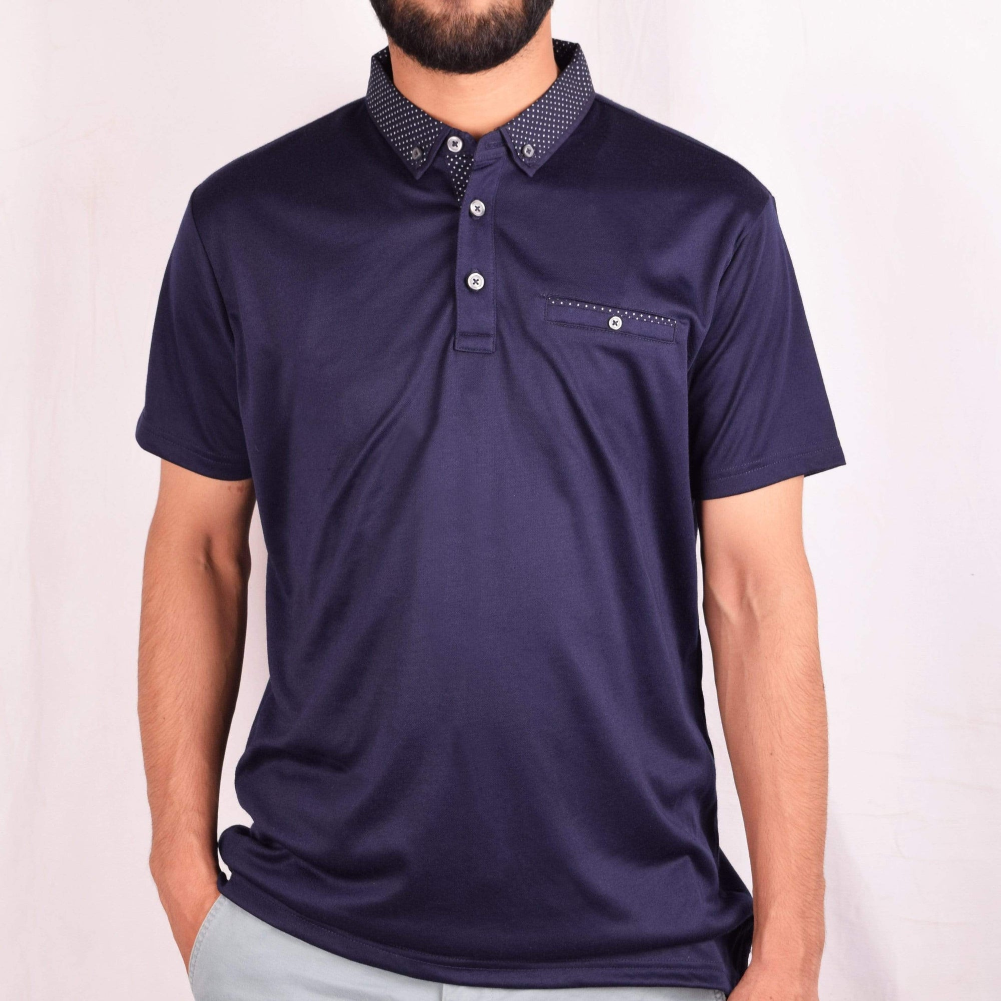 Henry James Men's Polo Shirt Dark Navy / S MUST HAVE HENRY JAMES CONSTRA SHORT SLEEVE POLO SHIRT