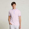 jacquard Tipped Collar Bio Polished jersey polo Shirt