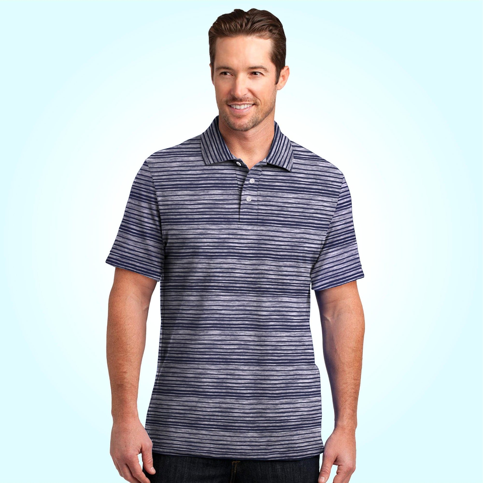 Henry James Men's Polo Shirt Navy / S HENRY JAMES EXCLUSIVE STRIPER SHORT SLEEVE POLO SHIRT