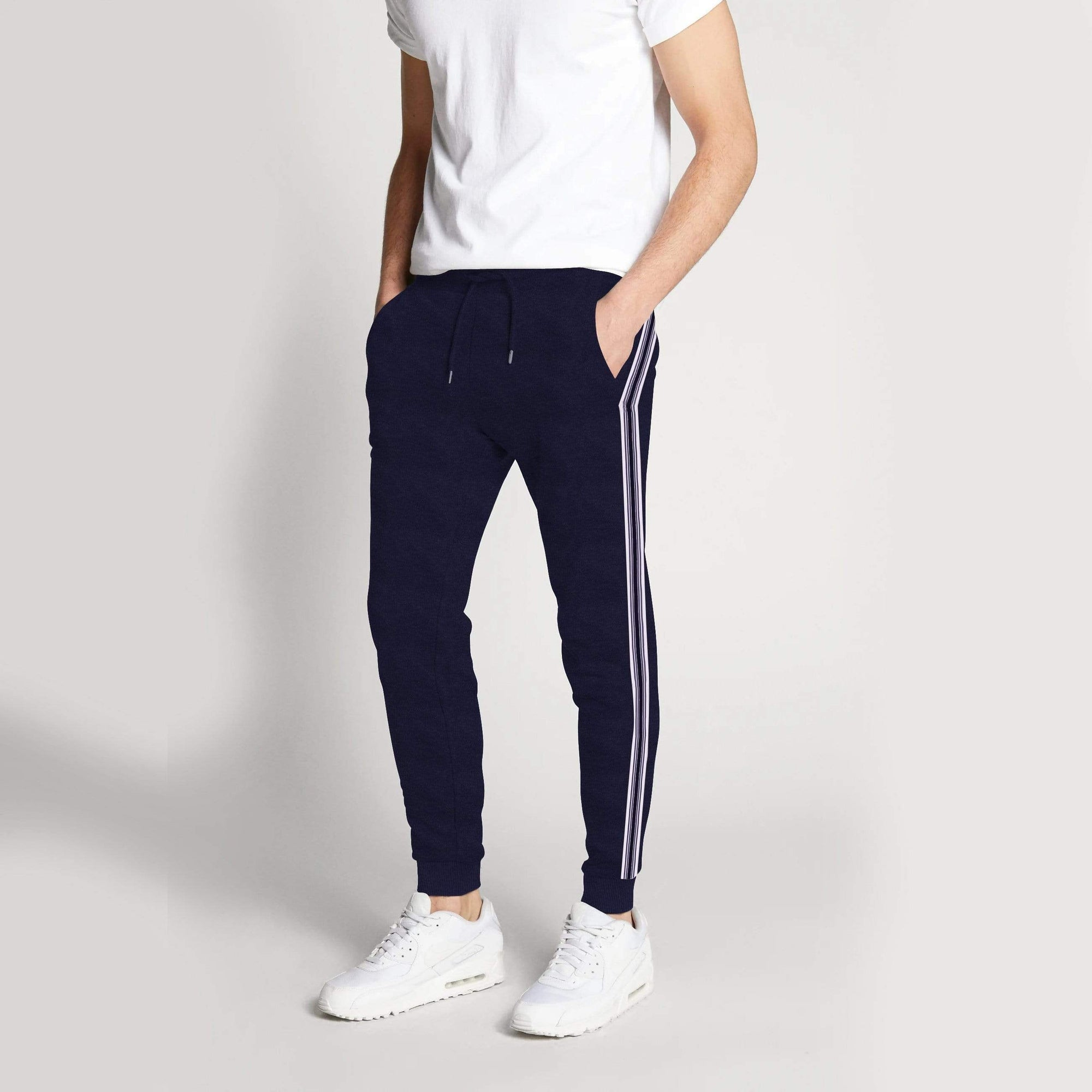 Henry James Men's Sweat Pants Navy / S Men's Henry James Side Stripes Sweat Pants