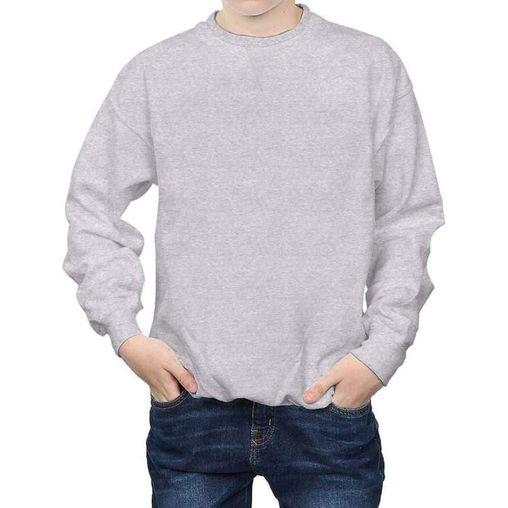 Henry James Men's Sweatshirt Grey / S Bobby Crew neck Melange Basic Sweatshirt