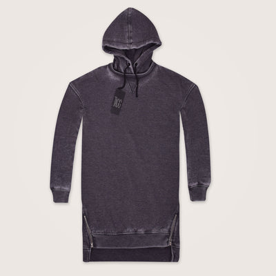 Kendal Longline Acid wash Hoodie - Klashcollection.com
