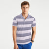 Benjamin Chambray Collar Striped Pocket Polo Shirt - Klashcollection.com