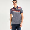 Matthew Eng Striped SIgnature Pique Polo Shirt