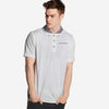 Anton Woven collar Short Sleeve Pocket Polo Shirt