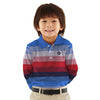 Kenzie long Sleeves Dyed Yarn Striped Pique Polo Shirt
