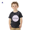 "Stone Harbor Crew Neck Striped Graphic ""Attitude"" Tee Shirt"