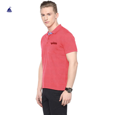 Stone Harbor Gabin Self Collar Slim Fit Pique polo Shirt