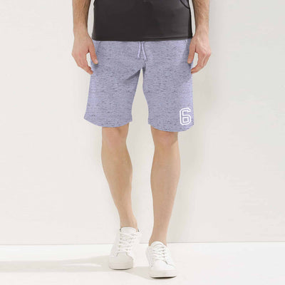 Stone Harbor Melange Textured Graphic Shorts - Klashcollection.com