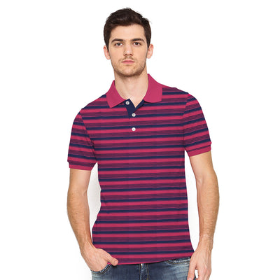 Martín Short Sleeve Dyed Yarn Striped Jersey Polo Shirt - Klashcollection.com
