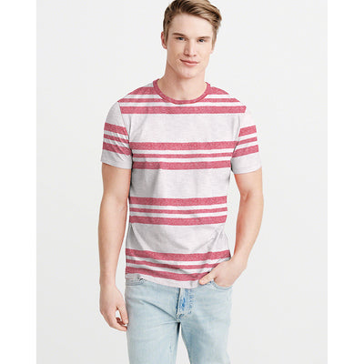 Mistic Eng striped Dyed Yarn Crew Neck Tee Shirt - Klashcollection.com