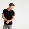 Harley WOVEN COLLAR SHORT SLEEVE POCKET POLO SHIRT