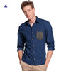 Stone Harbor Angus Long Sleeves Contrast Pocket Denim casual Shirt