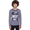 Blamer Crew Neck Long Sleeves Textured Ringer T-Shirt - Klashcollection.com