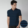 Jasper Jacquard Pique Striped Polo Shirt - Klashcollection.com