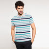 Jaxon Engr Striped Short Sleeve Polo Shirt