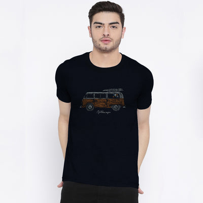Barnaby Crew Neck Sueded Jersey Graphic Tee Shirt