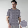 Drift King Spirit Geometric Jacquard Jersey Crew Neck Tee Shirt - Klashcollection.com