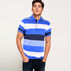Henry james Exclusive Eng Striped Royal Short Sleeve Polo Shirt