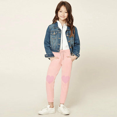 Lily skinny Pocket trousers with printing on Knees