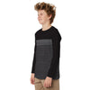 Cotton Sensations Cut and Sew textured paneled  Long sleeve Tee Shirt