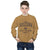 Kenzie Brick textured Graphic Crew neck Sweatshirt