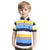 Henry James Allover Stripes Short Sleeve Polo Shirt