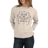 "Stone Harbor Peach ""Makeup is the Best Makeup"" Graphic Sweatshirt"