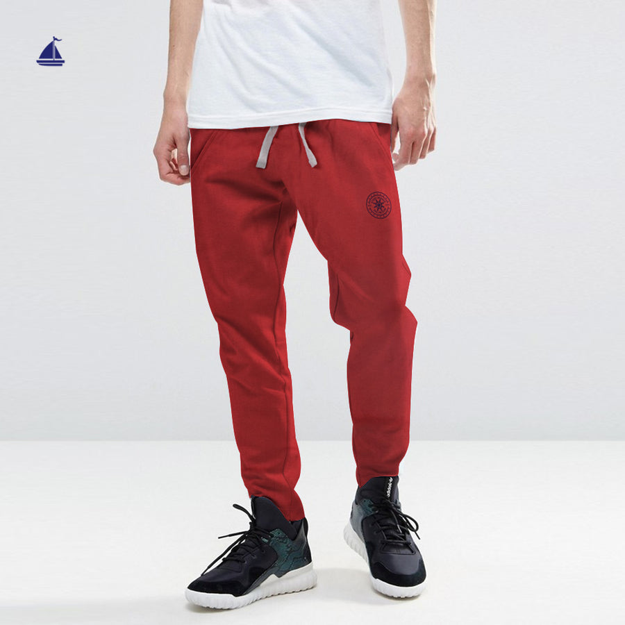 Stone Harbor Emilio Textured Slim Fit Graphic Jersey Trousers