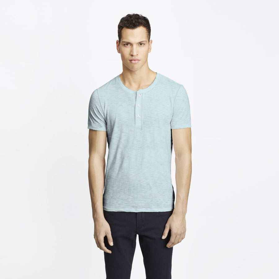 Henry James Castic Short Sleeve Henley Shirt