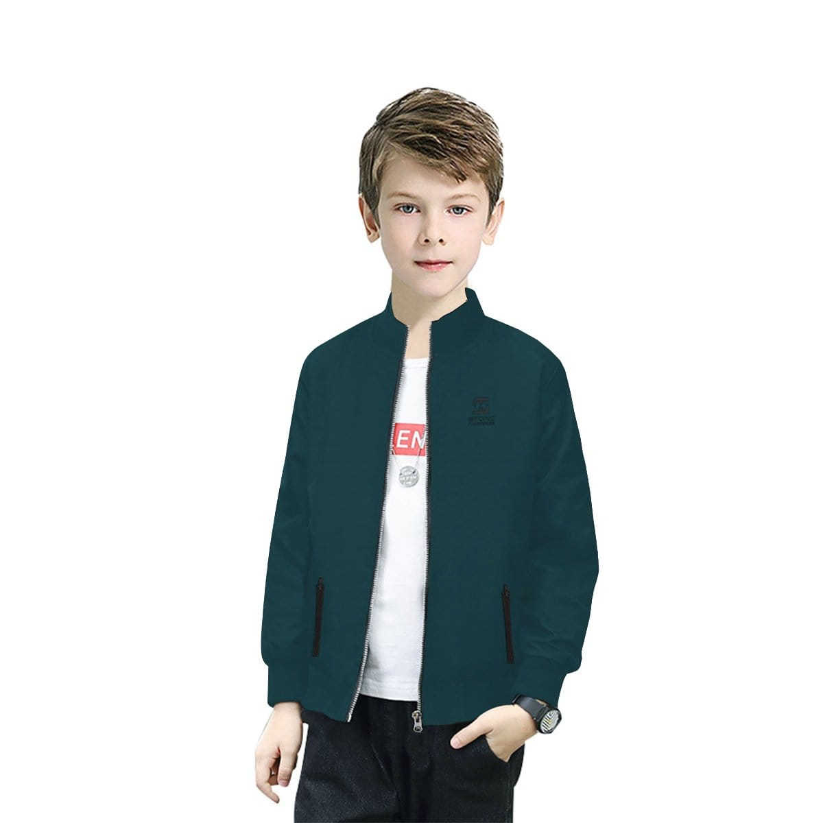 Stone Harbor Boy's Bomber Jacket Bottle Green / 2-3 Years Boy's Stone Harbor ZYLO BOMBER JACKET