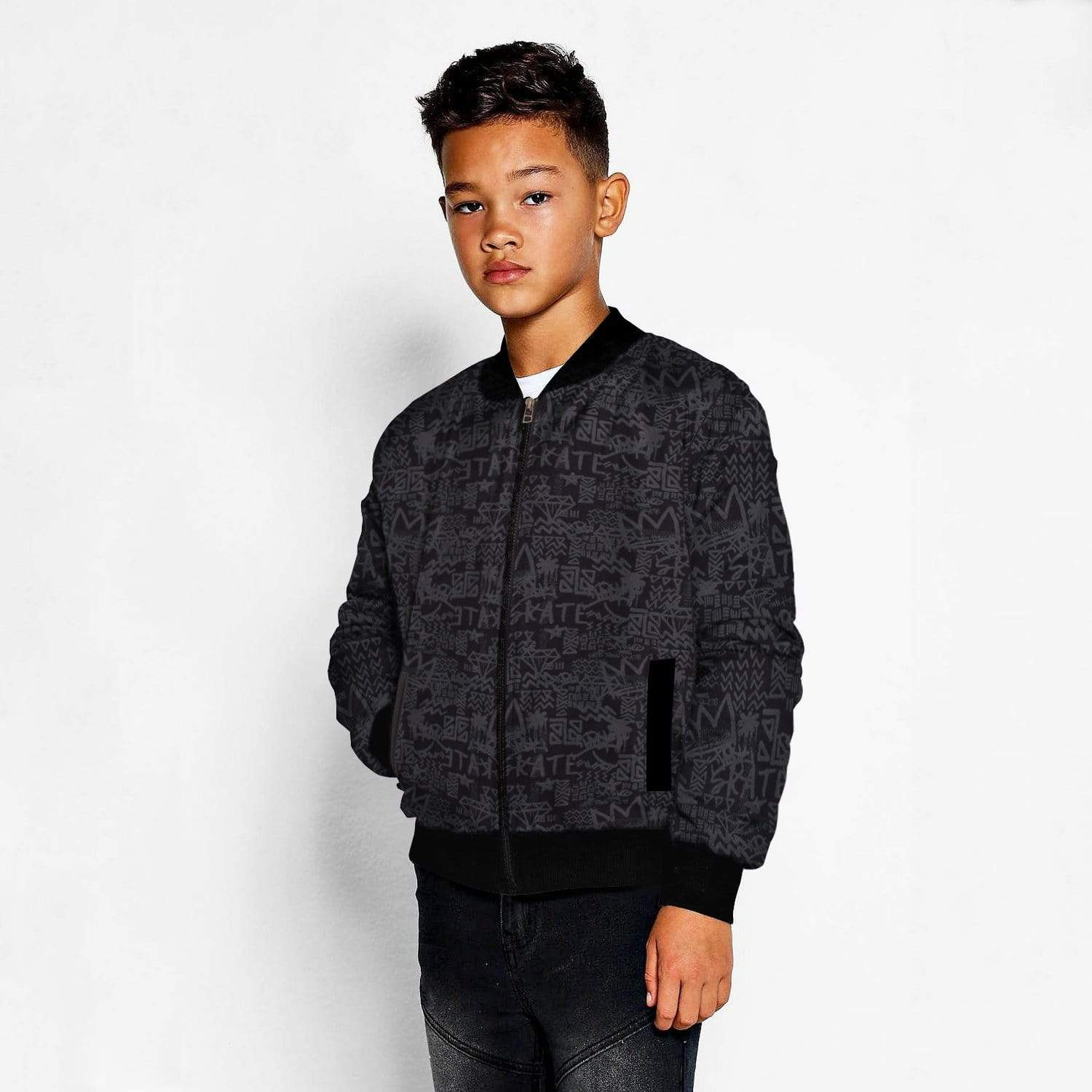 Stone Harbor Boy's Zipper Hoodie Black / 2-3 Years Boy's Stone Harbor ALPHA BOMBER JACKET