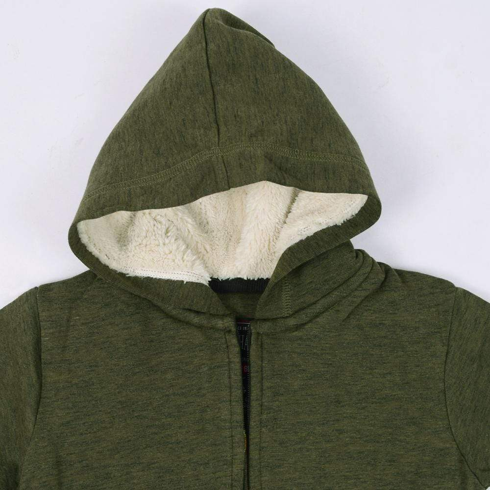 Stone Harbor Boy's Zipper Hoodie Battle Green / 2-3 Years Boy's Stone Harbor Battle Green Fur Lined Zipper HOODIE